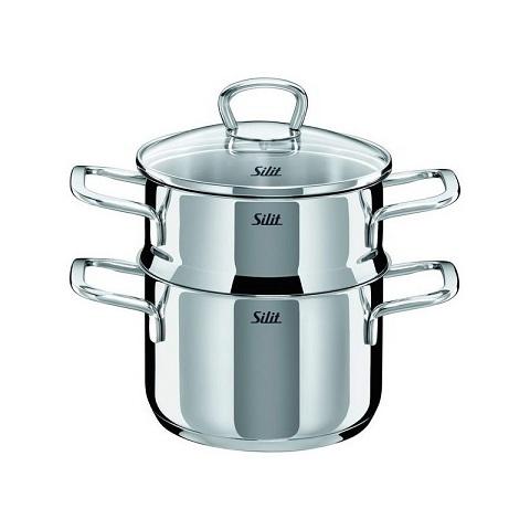 Garnek do gotowania na parze Silit, cena 414 zł - źródło: http://cookandlove.pl/garnek-do-gotowania-na-parze-silit-style-20l.html